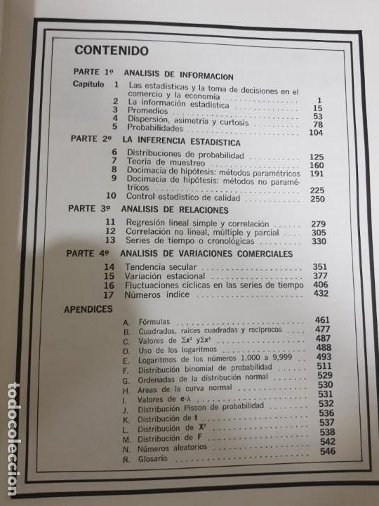 Libros de segunda mano de Ciencias: METODOS ESTADISTICOS, TEORIA Y PRÁCTICA.RAMON CAO GARCIA. - Foto 6 - 148957466
