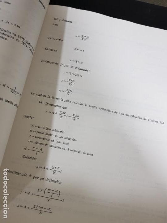 Libros de segunda mano de Ciencias: METODOS ESTADISTICOS, TEORIA Y PRÁCTICA.RAMON CAO GARCIA. - Foto 8 - 148957466