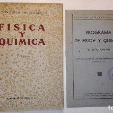 Libros de segunda mano de Ciencias - FISICA Y QUIMICA. 5º CURSO - A. MINGARRO V. ALEIXANDRE - 5ª Edición EDITORIAL SUMMA 1944 - 148990458
