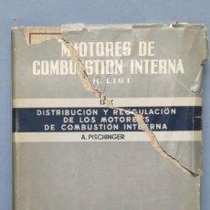 Libros de segunda mano de Ciencias: DISTRIBUCION Y REGULACION DE LOS MOTORES DE COMBUSTION INTERNA. A. PISCHINGER. Lote 148996630