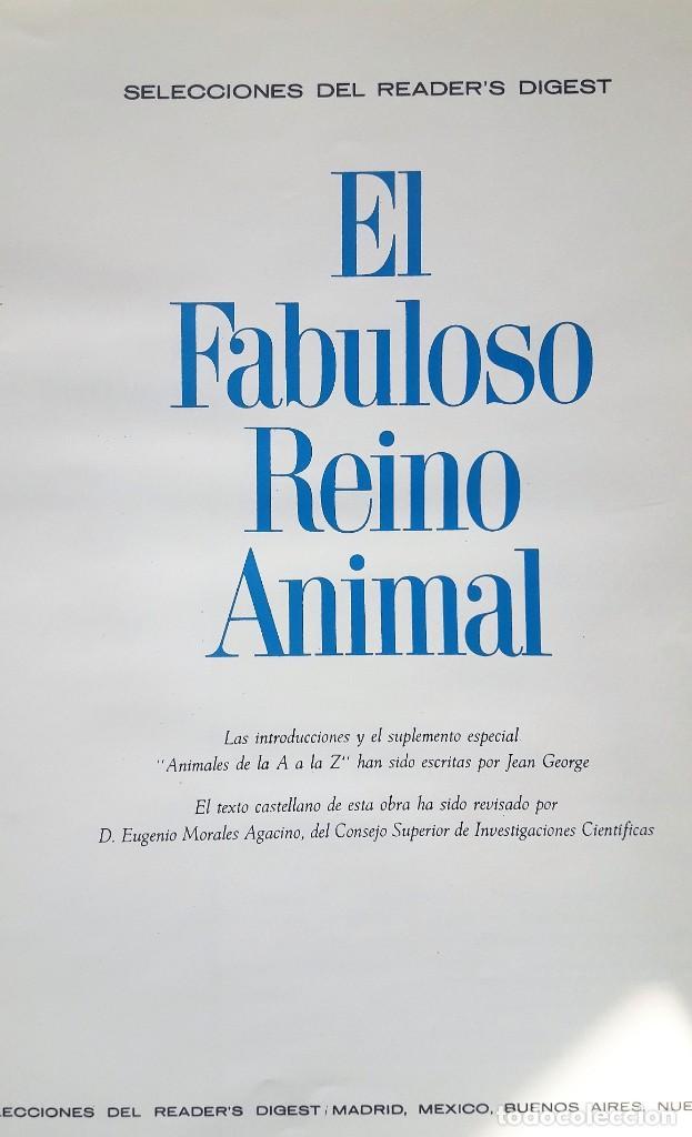 Libros de segunda mano: EL FABULOSO REINO ANIMAL. Selecciones Reader´s Digest. - Foto 2 - 149004134