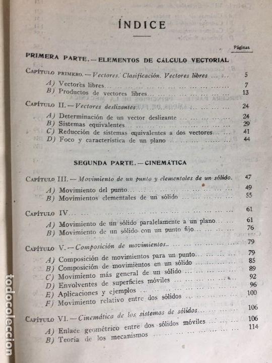 Libros de segunda mano de Ciencias: MECÁNICA GENERAL FERMÍN CASARES segunda edición 1942 escuela especial de ingenieros - Foto 12 - 149215302