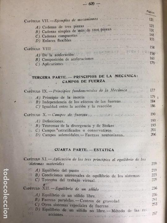 Libros de segunda mano de Ciencias: MECÁNICA GENERAL FERMÍN CASARES segunda edición 1942 escuela especial de ingenieros - Foto 13 - 149215302
