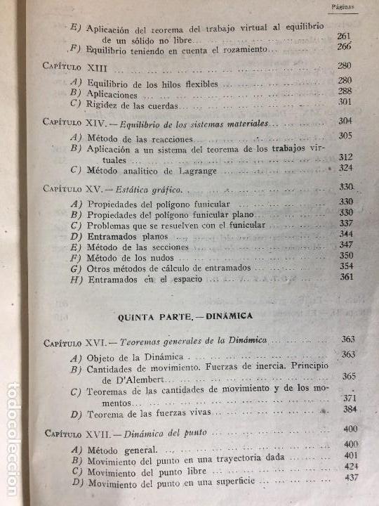 Libros de segunda mano de Ciencias: MECÁNICA GENERAL FERMÍN CASARES segunda edición 1942 escuela especial de ingenieros - Foto 14 - 149215302