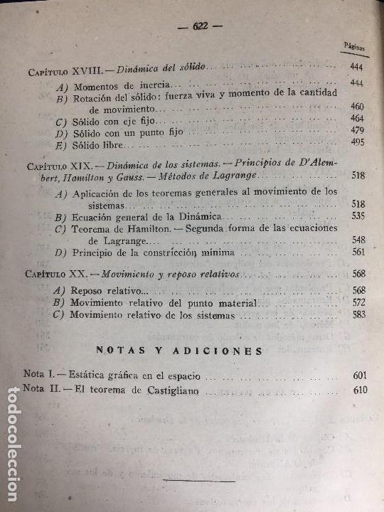 Libros de segunda mano de Ciencias: MECÁNICA GENERAL FERMÍN CASARES segunda edición 1942 escuela especial de ingenieros - Foto 15 - 149215302