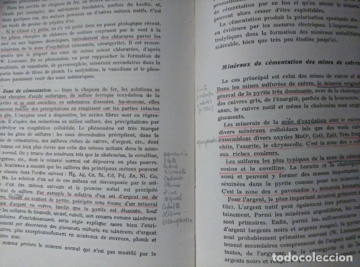 Libros de segunda mano: Géologie des Gites Minéraux, E. Raguin, 1949 - Foto 8 - 149252098