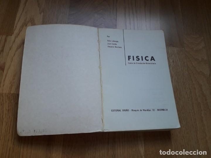 Libros de segunda mano de Ciencias: FÍSICA: CURSO DE ORIENTACIÓN UNIVERSITARIA / LABEAGA - LANDA - MARTÍNEZ / EDITORIAL BRUÑO, 1972 - Foto 2 - 149842606