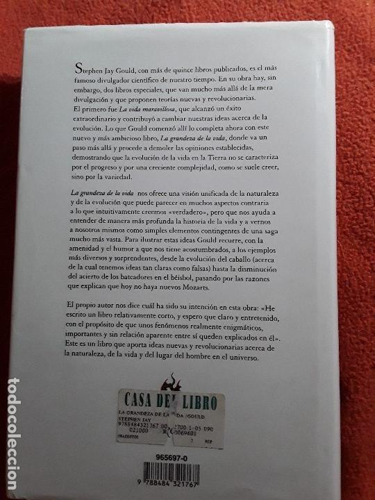 Libros de segunda mano: La grandeza de la vida, de Stephen Jay Gould. Critica, Drakontos, 1997. Muy raro. - Foto 2 - 150034282