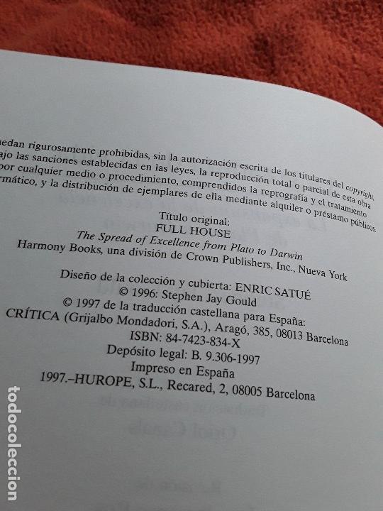 Libros de segunda mano: La grandeza de la vida, de Stephen Jay Gould. Critica, Drakontos, 1997. Muy raro. - Foto 3 - 150034282