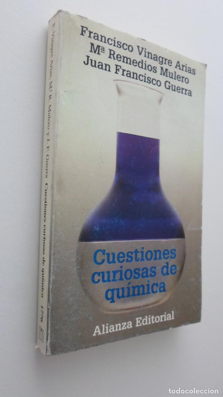 CUESTIONES CURIOSAS DE QUÍMICA - VINAGRE ARIAS, FRANCISCO (Libros de Segunda Mano - Ciencias, Manuales y Oficios - Física, Química y Matemáticas)