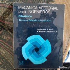 Libros de segunda mano de Ciencias: MECÁNICA VECTORIAL PARA INGENIEROS. DINÁMICA. FERDINAND P. BÁEZ. BUEN ESTADO. Lote 150600333