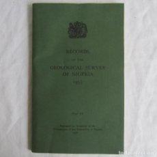 Libros de segunda mano: RECORDS GEOLOGICALS SURVEY OF NIGERIA 1958. EN INGLÉS. MUCHA CARTOGRAFÍA. Lote 150625606