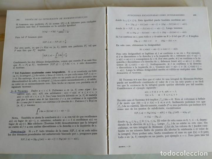 Libros de segunda mano de Ciencias: ANÁLISIS MATEMÁTICO - T. M. APÓSTOL - Foto 2 - 150825534
