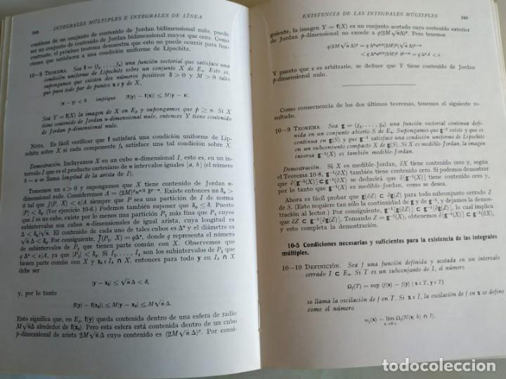 Libros de segunda mano de Ciencias: ANÁLISIS MATEMÁTICO - T. M. APÓSTOL - Foto 3 - 150825534
