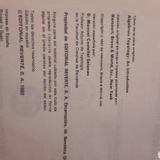 Libros de segunda mano de Ciencias: INTRODUCCION TOPOLOGIA ALGEBRAICA VERSION ESPAÑOLA MANUEL CASTELLET 1982 EDIT REVERTE. Lote 151145396