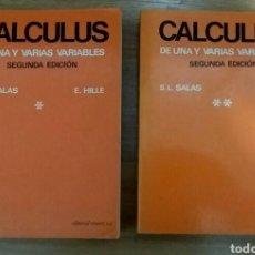 Libros de segunda mano de Ciencias: CALCULUS DE UNA Y VARIAS VARIABLES. TOMOS 1 Y 2. S.L. SALAS/E. HILLE. ED. REVERTÉ 1989.. Lote 196974406