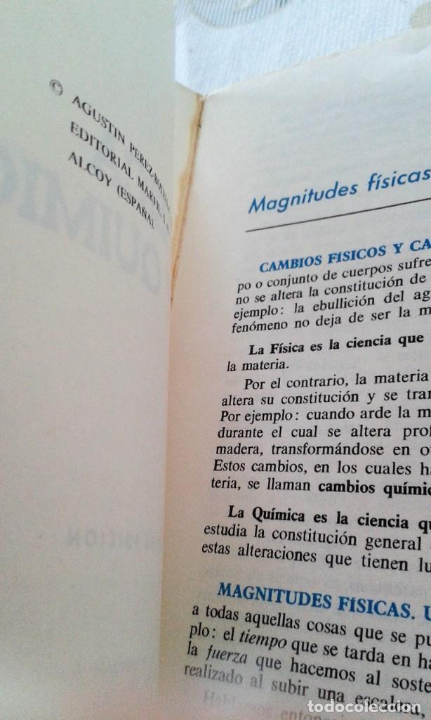 Libros de segunda mano de Ciencias: FÍSICA Y QUÍMICA 4º CURSO AGUSTÍN PÉREZ BOTELLA MARFIL - Foto 2 - 151533150