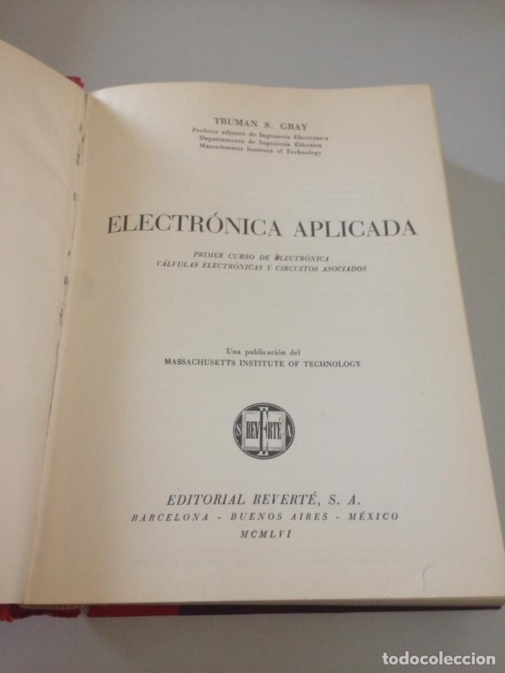 Libros de segunda mano de Ciencias: ELECTRÓNICA APLICADA - EDITORIAL REVERTE - Foto 2 - 152052850