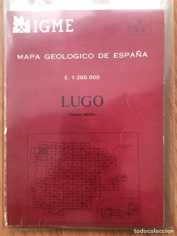 IGME LIBRO Y MAPA GEOLOGICO DE ESPAÑA HOJA 8 LUGO ESCALA 1: 200000 PRIMERA EDICION (Libros de Segunda Mano - Ciencias, Manuales y Oficios - Paleontología y Geología)