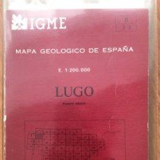 Libros de segunda mano: IGME LIBRO Y MAPA GEOLOGICO DE ESPAÑA HOJA 8 LUGO ESCALA 1: 200000 PRIMERA EDICION. Lote 152153154