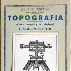 Libros de segunda mano: TOPOGRAFIA-JESÚS DE FEDERICO-PEQUEÑA ENCICLOPEDIA PRACTICA Nº 98-EDICIONES IBERICAS-VALLADOLID 1940. Lote 152235794