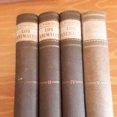 Libros de segunda mano: LOS ANIMALES,G.SCORTECCI,EDITORIAL VERGARA,CUATRO TOMOS.I II IV V.. Lote 153502798