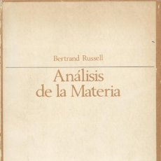 Second hand books of Sciences - Análisis de la materia de materia de Bertrand Russell - 153711122