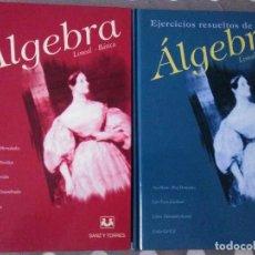 Libros de segunda mano de Ciencias: ALGEBRA LINEAL BASICA , EJERCICIOS RESUELTOS ( 2 VOL. ) . ED. SANZ Y TORRES .. Lote 153734350