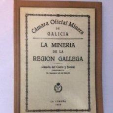 Libros de segunda mano: LA MINERÍA DE LA REGION GALLEGA. LA CORUÑA 1928. EDICIÓN FACSIMILAR 2006. Lote 156481250