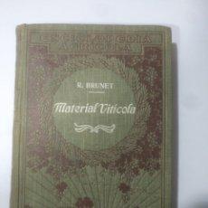 Libros de segunda mano: ENCICLOPEDIA MATERIA VITICOLA DE 1920 R. BRUNET DE EDITORIAL P. SALVAT 400 PAGI AS CON 257 FIGURAS. Lote 156700376