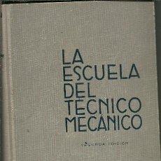 Libros de segunda mano de Ciencias: LA ESCUELA DEL TECNICO MECANICO TOMO VI CALDERAS MOTORES DE COMBUSTION INTERNA MOTORES HIDRAULICOS S. Lote 154442502