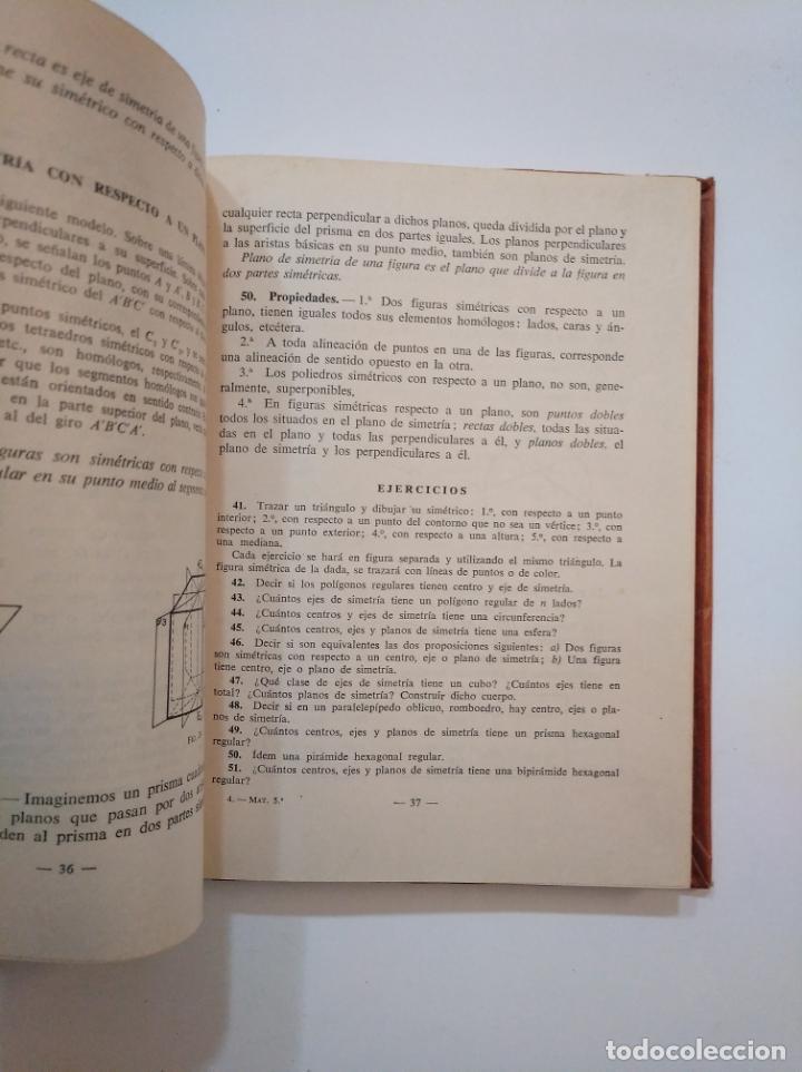 Libros de segunda mano de Ciencias: MATEMATICAS. QUINTO CURSO. EDITORIAL LUIS VIVES EDELVIVES. 1958. TDKLT - Foto 2 - 154619742