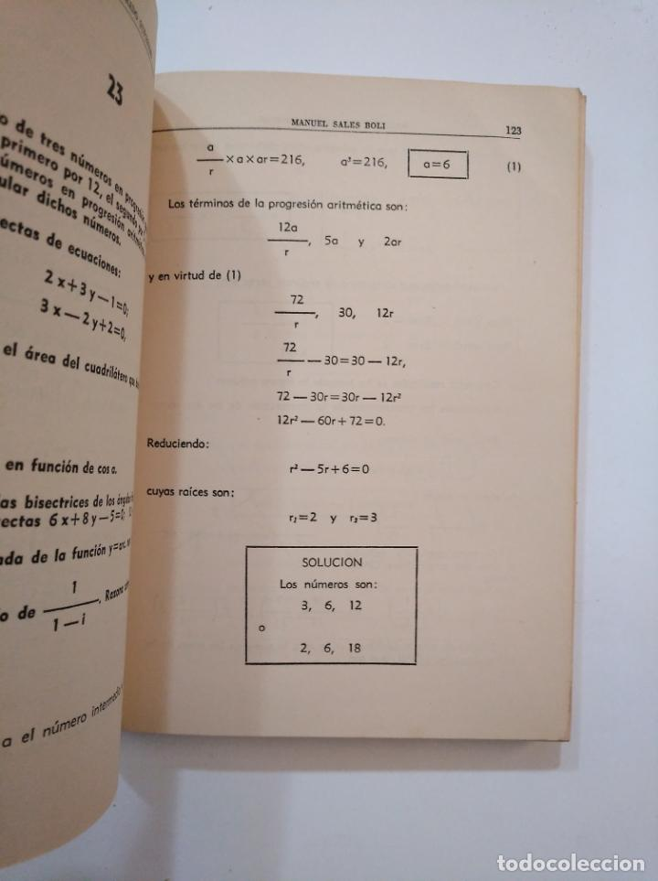 Libros de segunda mano de Ciencias: TEMAS DE MATEMÁTICAS DE GRADO SUPERIOR. CONTESTADOS Y RESUELTOS. - SALES BOLI, M. 1963. TDKLT - Foto 2 - 154623866