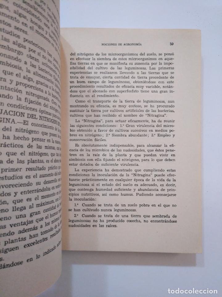 Libros de segunda mano: NOCIONES DE AGRONOMIA. - URANGA GALDIANO, FRANCISCO. TDK373 - Foto 2 - 154658530