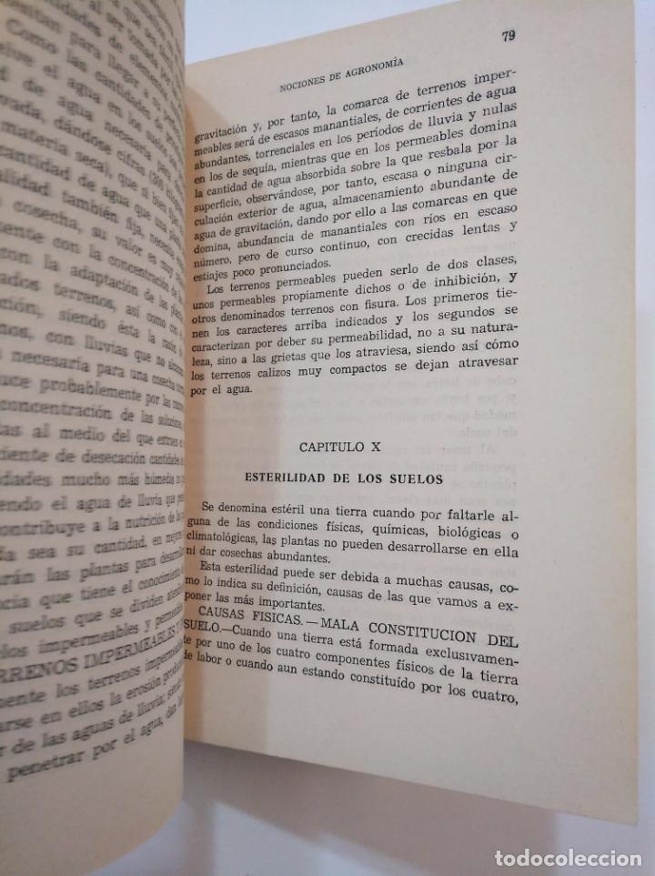 Libros de segunda mano: NOCIONES DE AGRONOMIA. - URANGA GALDIANO, FRANCISCO. TDK373 - Foto 3 - 154658530