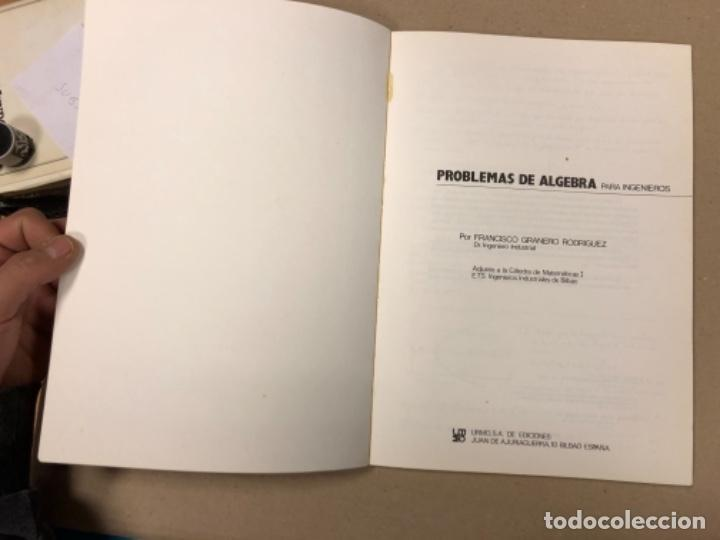 Libros de segunda mano de Ciencias: PROBLEMAS DE ÁLGEBRA PARA INGENIEROS. FRANCISCO GRANERO. URMO EDICIONES 1983. - Foto 2 - 154817750