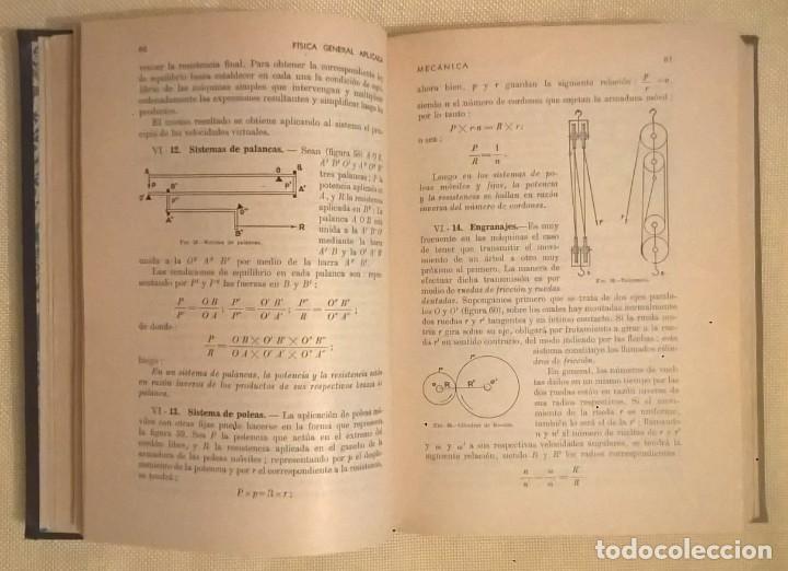 Libros de segunda mano de Ciencias: FÍSICA GENERAL APLICADA,DE FRANCISCO F.SINTES OLIVES - EDITORIAL RAMÓN SOPENA (BARCELONA) - AÑO 1955 - Foto 12 - 155188594