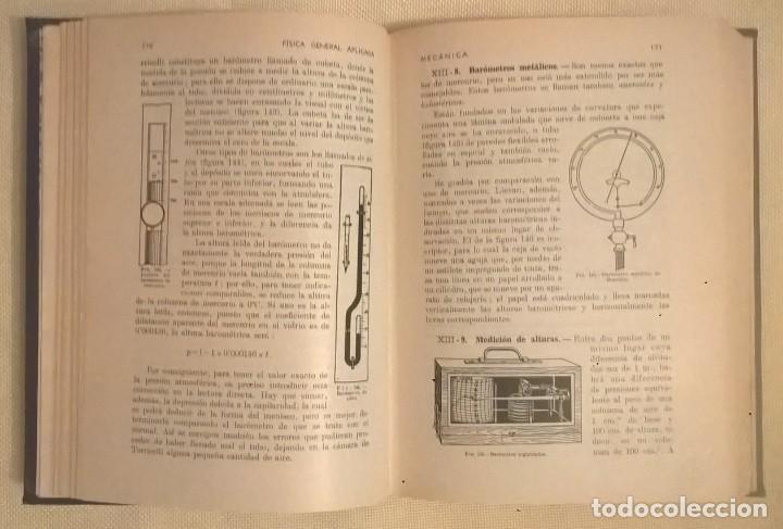Libros de segunda mano de Ciencias: FÍSICA GENERAL APLICADA,DE FRANCISCO F.SINTES OLIVES - EDITORIAL RAMÓN SOPENA (BARCELONA) - AÑO 1955 - Foto 14 - 155188594