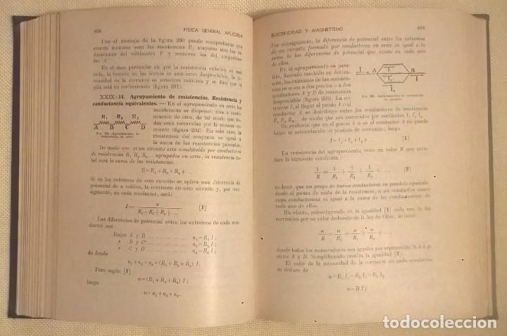 Libros de segunda mano de Ciencias: FÍSICA GENERAL APLICADA,DE FRANCISCO F.SINTES OLIVES - EDITORIAL RAMÓN SOPENA (BARCELONA) - AÑO 1955 - Foto 18 - 155188594