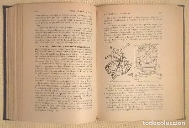Libros de segunda mano de Ciencias: FÍSICA GENERAL APLICADA,DE FRANCISCO F.SINTES OLIVES - EDITORIAL RAMÓN SOPENA (BARCELONA) - AÑO 1955 - Foto 20 - 155188594