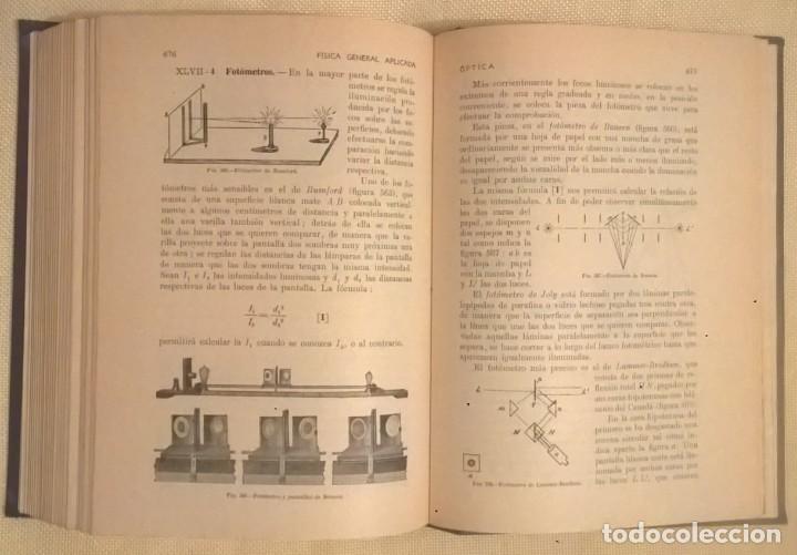 Libros de segunda mano de Ciencias: FÍSICA GENERAL APLICADA,DE FRANCISCO F.SINTES OLIVES - EDITORIAL RAMÓN SOPENA (BARCELONA) - AÑO 1955 - Foto 26 - 155188594