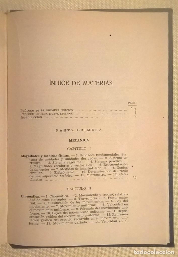 Libros de segunda mano de Ciencias: FÍSICA GENERAL APLICADA,DE FRANCISCO F.SINTES OLIVES - EDITORIAL RAMÓN SOPENA (BARCELONA) - AÑO 1955 - Foto 30 - 155188594
