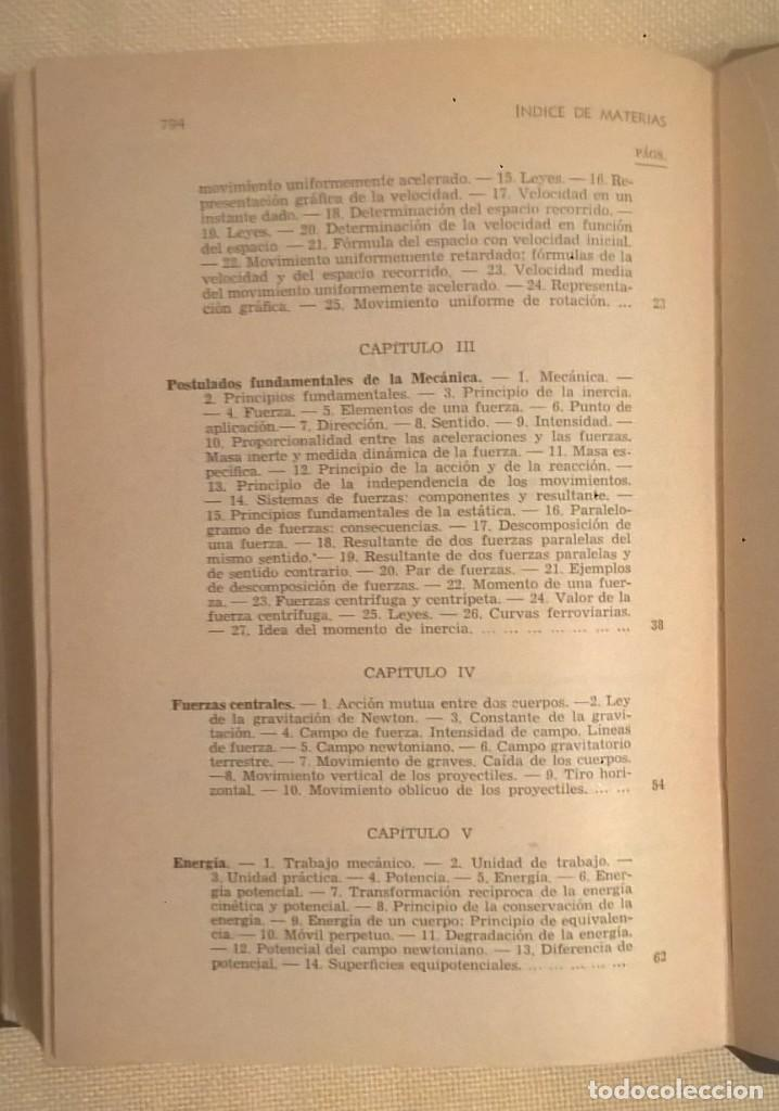 Libros de segunda mano de Ciencias: FÍSICA GENERAL APLICADA,DE FRANCISCO F.SINTES OLIVES - EDITORIAL RAMÓN SOPENA (BARCELONA) - AÑO 1955 - Foto 31 - 155188594