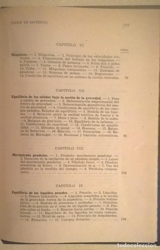 Libros de segunda mano de Ciencias: FÍSICA GENERAL APLICADA,DE FRANCISCO F.SINTES OLIVES - EDITORIAL RAMÓN SOPENA (BARCELONA) - AÑO 1955 - Foto 32 - 155188594