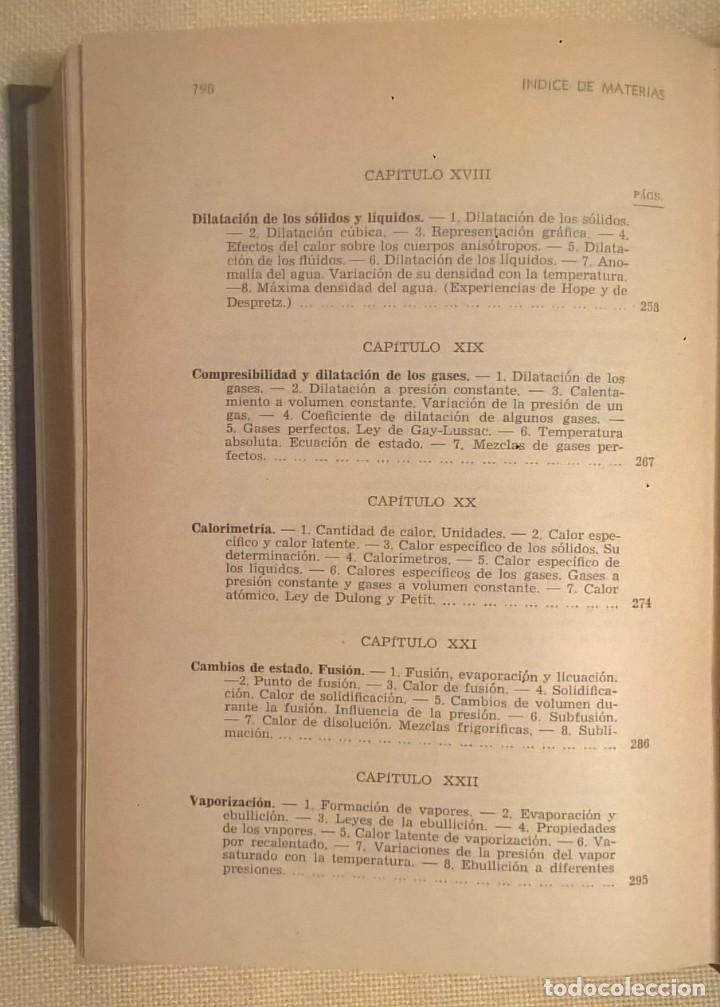 Libros de segunda mano de Ciencias: FÍSICA GENERAL APLICADA,DE FRANCISCO F.SINTES OLIVES - EDITORIAL RAMÓN SOPENA (BARCELONA) - AÑO 1955 - Foto 35 - 155188594