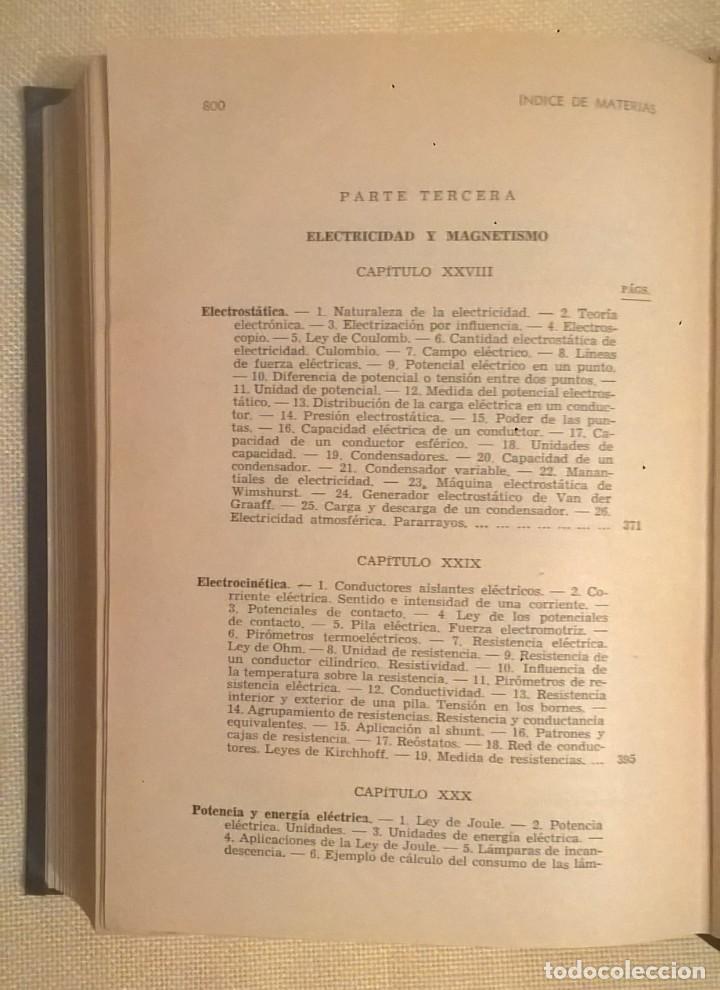 Libros de segunda mano de Ciencias: FÍSICA GENERAL APLICADA,DE FRANCISCO F.SINTES OLIVES - EDITORIAL RAMÓN SOPENA (BARCELONA) - AÑO 1955 - Foto 37 - 155188594