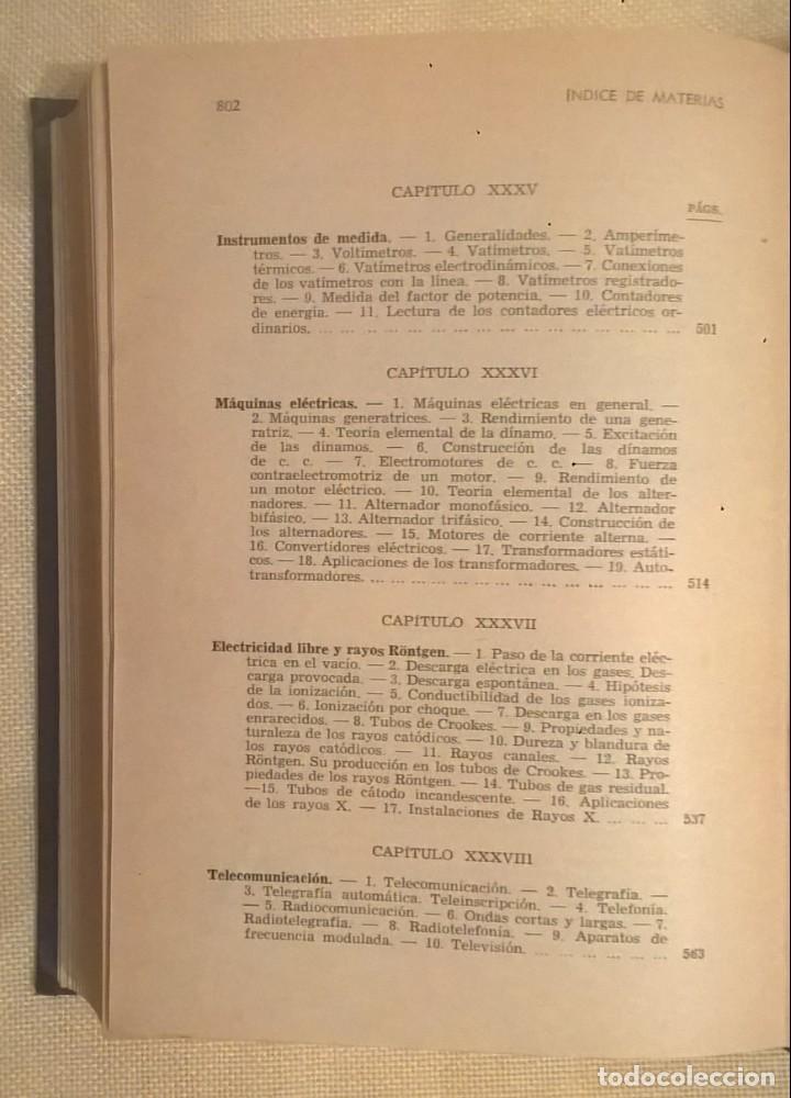 Libros de segunda mano de Ciencias: FÍSICA GENERAL APLICADA,DE FRANCISCO F.SINTES OLIVES - EDITORIAL RAMÓN SOPENA (BARCELONA) - AÑO 1955 - Foto 39 - 155188594