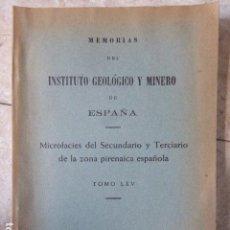 Libros de segunda mano: MICROFACIES DEL SECUNDARIO Y TERCIARIO DE LA ZONA PIRENAICA ESPAÑOLA. TOMO LXV. MADRID, 1964. 217. Lote 155371474