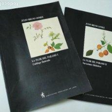 Libros de segunda mano: LA FLOR DEL PARAMO. I Y II. DOS VOLUMENES. JULIO BRUNO GOMEZ. (PLANTAS SILVESTRES) 1991.. Lote 155535390