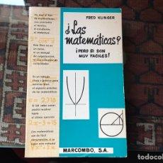 Libros de segunda mano de Ciencias - ¿Las matemáticas? ¡Pero si son muy fáciles!. Fred Klinger - 155545418